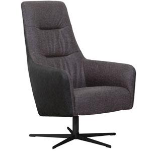 Hala fauteuil, donkergrijs, metalen draaipoot.